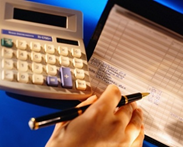 Calculator and Checkbook Register